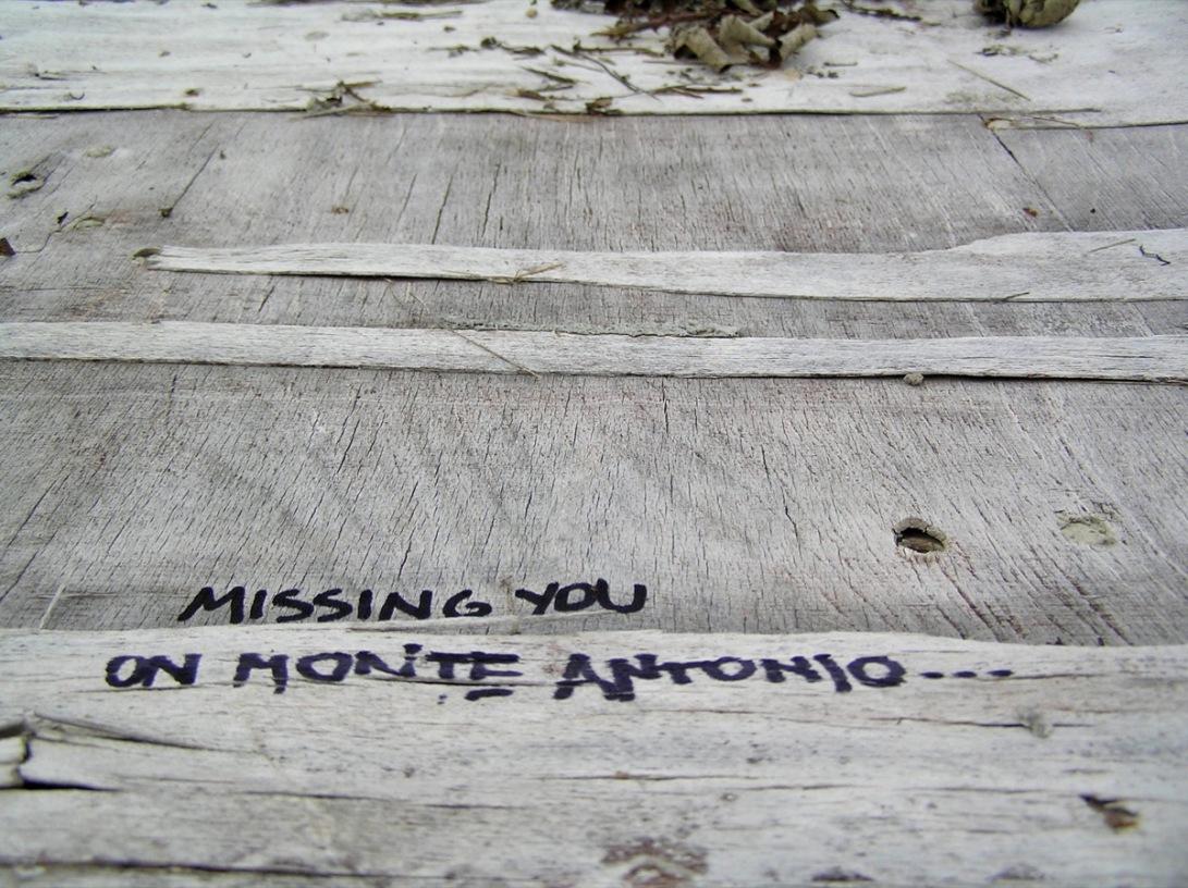 missing you in monte antonio