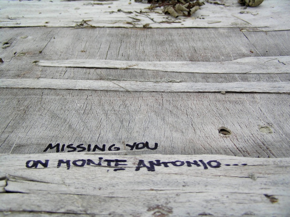 missing you in monte antonio